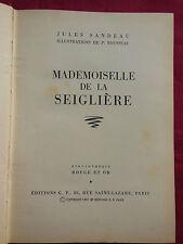 MADEMOISELLE DE LA SEIGLIERE Jules SANDEAU Rouge et Or G.P n° 44 Illut. ROUSSEAU