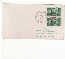 UNITED STATES : U.S.S. CIMARRON POSTMARK COVER 1948 : RED CANCELLATION rare  G