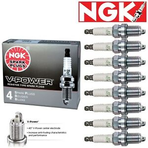 8 Pack NGK V-Power Spark Plugs 1996-1999 Chevrolet C1500 Suburban 5.7L V8