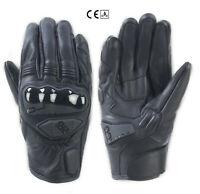 Guanti pelle moto Oj Rave nero leather black gloves