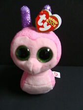 """Nwt Ty Beanie Boos 6"""" Scooter Snail Pink Plush Boo Glitter Sparkly Eyes 2016 New"""