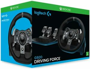 Logitech G920 Driving Force Steering Wheel Of Racing And Pedals Feedback Alumini