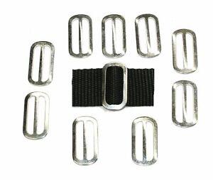 Slides Buckles 10 x 25mm zinc plated OVAL 3 Bar for 25mm Webbing