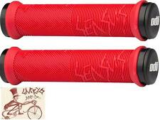 ODI SENSUS DISISDABOSS LOCK-ON RED BMX-MTB BICYCLE GRIPS