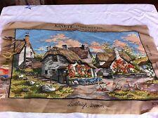 Vintage 1980s Kinetic British Collection Lustleigh Devon Needlepoint Kit 24x14