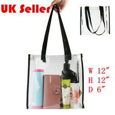Women's PVC Clear Transparent Shoulder Bag Tote Jelly Candy Summer Beach Handbag