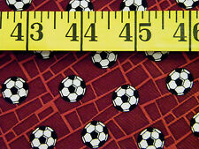 SOCCER BALLS ALLOVER  100% POLYESTER  FABRIC 31X21 INCHES