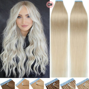 Skin Weft Russian Hair Premium Adhesive Tape In 100% Remy Human Hair Extensions