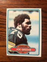 1980 Topps #175 Mean Joe Greene Football Card Pittsburgh Steelers NFL Raw