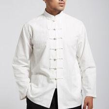 Men Traditional Chinese Tang Suit Coat Kung Fu Tai Chi Uniform Jacket Clothing
