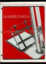 Super Rare Saunders-Omega Pro-Lab D-8 Easel Dealer Brochure Info Timers & More
