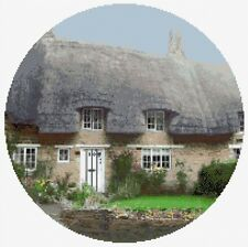 """Choza Country Cottage & Garden - 14"""" ronda Kit Punto De Cruz, Conde 14, Ancla"""