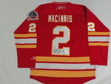AL MACINNIS SIGNED REEBOK PREMIER CALGARY FLAMES 1989 STANLEY CUP JERSEY
