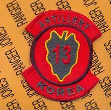 US Army 13th Artillery Regiment 24th Inf Div KOREA tab arc patch