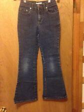 Jordache jeans size 6 low rise flare waist 22 inseam 24 1/2 girls