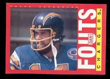 1985 Topps DAN FOUTS San Diego Chargers Box Bottom Card