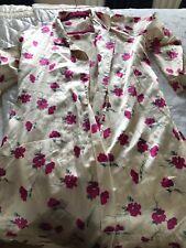 """Molto Morbido Trapuntato Abito Vestaglia Kimono Cotone 80/% pulsante ricco attraverso 44/"""" Lunghezza"""