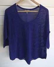 Sussan Women's Purple 3/4 Sleeve Knit Top - Size M