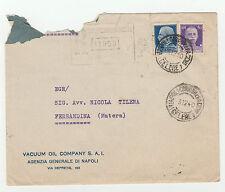 STORIA POSTALE 1940 REGNO IMPERIALE C.50+L.1,25 POSTA CELERE NAPOLI 3/12 Z/2157