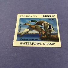 1987 Florida State Duck Stamp, Mint Og/Nh.