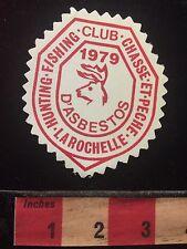 Vtg 1979 Patch Canada Hunt Fish Club Chasse et Pêche LaRochelle d'Asbestos 60B