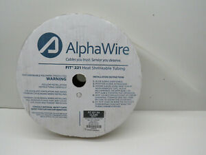 """(40ft) Alpha FIT221 3/4"""" Clear Heat Shrink Polyolefin Tubing From 3/4"""" to 3/8"""""""