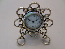 c. 1910 Brass ball & ring working mantle clock with 30 hour German movement