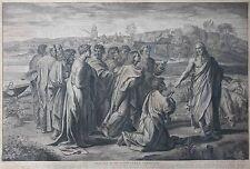 Gravure ancienne (début XVIIIe). Raphaël, N. Dorigny. Engraving, Kupferstich.