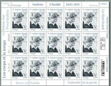 France 2020 Feuille ANDRÉE CHEDID 1920 - 2011- 15V MNH / Neuf**