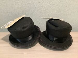 2 New Bond & Co. Dog Top Hat pet novelty clothing and accessories