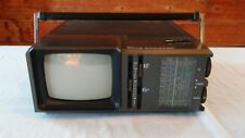 "Vintage Sears 5"" B&W Portable AC/DC TV-AM-FM-PSB Model 580 (1983) 100%"