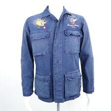 RALPH LAUREN POLO Jeanshemd Dragon Hawaii Hemd Gr. S blau Herren Cotton Shirt Li