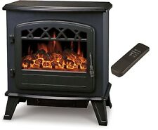EX Display Galleon Fires Castor Electric Stove Heater With Log Flame Effect Fire
