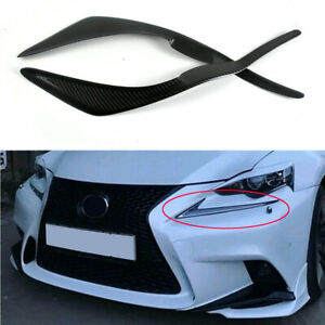 Real Carbon Fiber Eyebrows Eyelids Headlight Covers Fit for Lexus IS III 2013-16