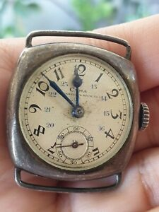 Cyma Vintage Watch silver.