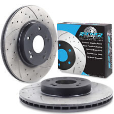 FRONT DRILLED GROOVED 282mm BRAKE DISCS FOR HONDA CIVIC 2.2 CTDI 1.4 1.8 2.0i