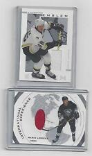 MARIO LEMIEUX JERSEY TWO CARD LOT #3...... ITG  USED EMBLEM AND ITG INT EXP