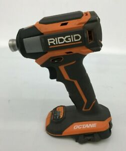 "Ridgid R86039 18-Volt OCTANE Brushless Cordless 6Mode 1/4"" Impact Driver, GR M"