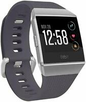 Fitbit IONIC Smartwatch Bluetooth GPS Activity Tracker Gray Silver Brand New