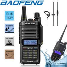 Baofeng UV-9R Plus IP67 Waterproof UHF/VHF Walkie Talkie Two Way Radio +Earpiece