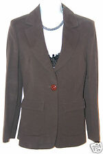ICEBERG JEANS WOMEN'S DESIGNER BROWN JACKET BLAZER SIZE 42 IT 10 UK BUST 36