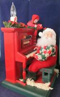 Vintage Animated Sing Along with Santa Elf Light Piano Cassette Tape Player GUC