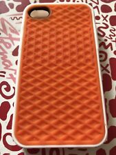 Iphone 4/4s Vans Rubber Waffle Phone Case Orange And White, Brand New