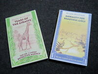 2 Books_Tears of the Giraffe-Morality For Beautiful Girls-Alexander McCall Smith