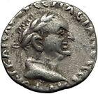 VESPASIAN 69AD Caesarea Cappadocia Authentic Ancient Silver Roman Coin i65442