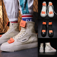 Fashion Men's Sneaker Casual Korean Leather High Hip-hop Ankle Boots Shoes
