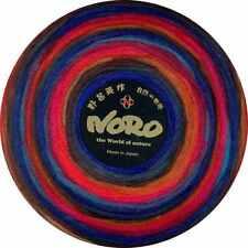 NORO ::Rainbow Roll #1024:: 100% unspun roving wool Blues-Reds-Hunter-Browns