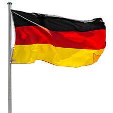Alu Fahnenmast Deutschlandfahne 6,50m Mast Flagge Seilzug Bodenhülse Flaggenmast
