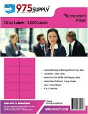 Closeout 975 Supply 10up Address Labels Fluorescent Pink 100 Sheets 4 X 2