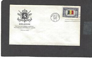 #914 5c BELGIUM OVERRUN NATION FDC SEP 14-1943 HOUSE OF FARNAM CACHET